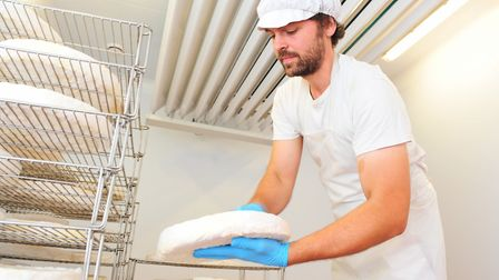 Bungay Dairy Farmer Jonathan Crickmore making cheese Picture: NICK BUTCHER