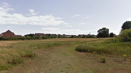 Land at Thurmans Lane is currently up for sale. It has planning permission for 50 homes Picture: GOO