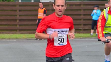 Tony Gavin, pictured winning the Capel 5, was a runner-up at Sunday's Martlesham 10K. Picture: KEITH