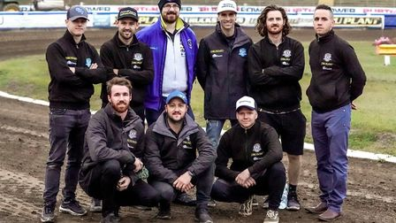 Robert Mutimer, who has been at every Witches meeting (home and away) this season, with the team, ah
