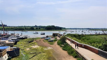 This picture, taken on the day of Woodbridge Regatta, shows the beauty of the landscape that residen