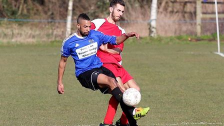 Mo Fike was on target for table-topping Cranes in their win at Old Newton. Picture: PAUL LEECH
