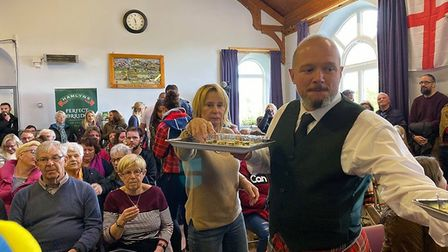 Visitors get ready for the World Porridge Making Championship Picture: Hamlyns