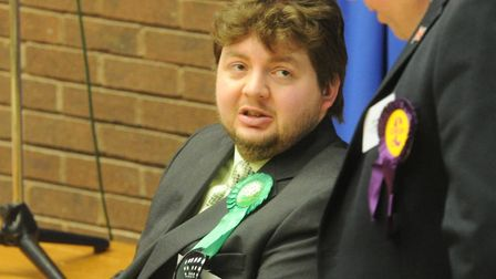 Green Party councillor Terence Carter will face trial over his part in climate change protests Pictu