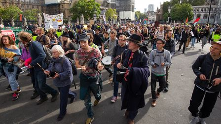 Extinction Rebellion protesters in London on Tuesday Picture: PA IMAGES