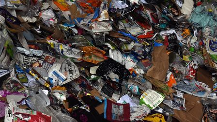 Suffolk County Council's mixed recycling waste is processed at Great Blakenham. PIcture: SARAH LUCY