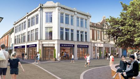 A CGI of what the transformation of the former Co-op store in Long Wyre Street, Colchester, could lo