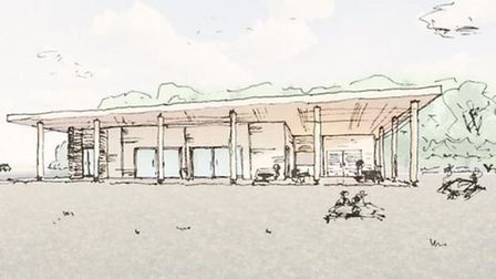 An artist's impression of the new visitor centre proposed for Needham Lake Picture: HAMSON BARRON S