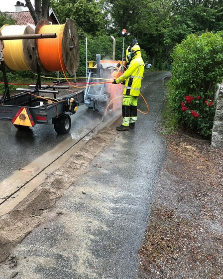 Kentford, Suffolk, is being installed with some of the UK's fastest fibre broadband. Photo: Openreac