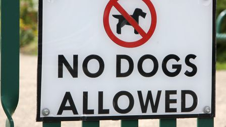 Dogs are only allowed on Felixstowe beach at certain times of the year. Dogging usually happens at c
