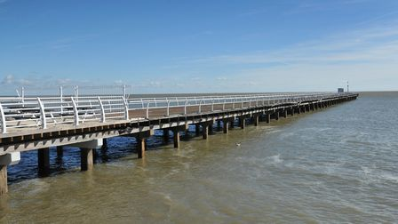 The area to the right of Felixstowe Pier and spaces between the beach huts are reportedly being used