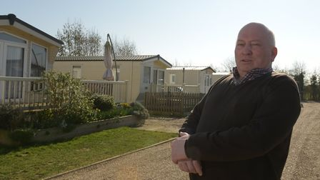 Alan Forward, owner of Stonham Barns, has issued eviction notices to some residents Picture: SARAH L