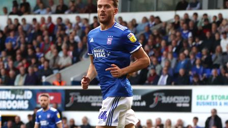 Emyr Huws pictured during Town's 4-1 win over Tranmere Rovers at Portman Road Picture: ROSS HALLS
