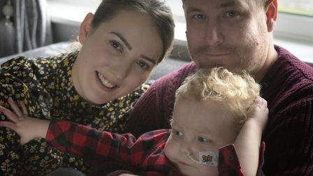 Hannah Carter and Daniel Nightingale with their son Carter Picture: SARAH LUCY BROWN