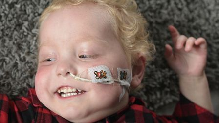 Two year old Carter is suffering from a rare form of Leukaemia Picture: SARAH LUCY BROWN