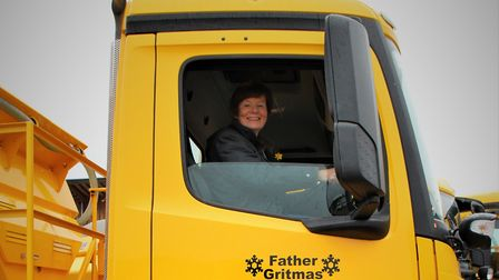The names of the gritters will be displayed on the side and front of the cabs to make sure people ca