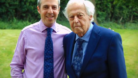 Sasha Erben and his father. Harry founded H. Erben in 1951. A family friend says Harry Erben was a