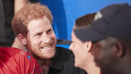 Scott Meenagh pictures with Prince Harry at the Invictus Games, Toronto 2017. Picture: THEO COHEN/HE