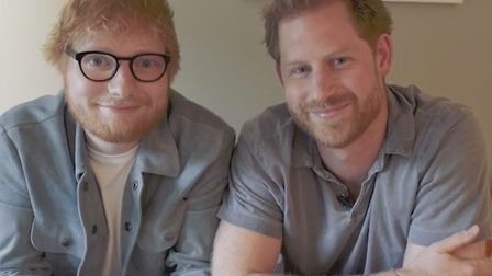 Ed Sheeran and Prince Harry have teamed up in support of World Mental Health Day. Picture: @SussexRo