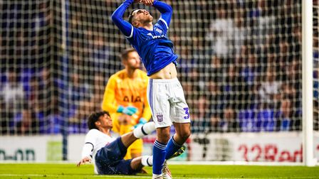 Armando Dobra reacts after going close against Spurs. Picture: Steve Waller www.stephenwaller.