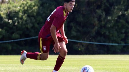 Armando Dobra in action during Town U23s 1-0 defeat against Leeds United Picture: ROSS HALLS