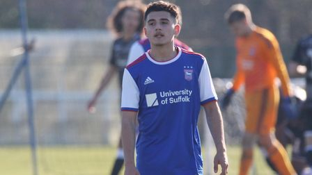 Armando Dobra impressed during Town U23s 4-1 win over Colchester Picture: ROSS HALLS