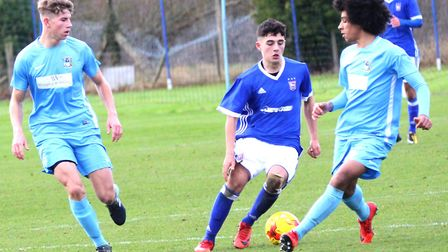 Ipswich Town winger Armando Dobra on the attack for the Under 18s. Picture: ROSS HALLS