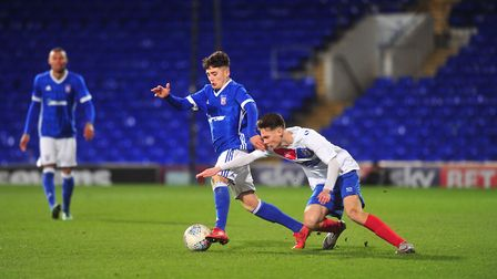 Armando Dobra in FA Youth Cup action against Dagenham. Picture: SARAH LUCY BROWN