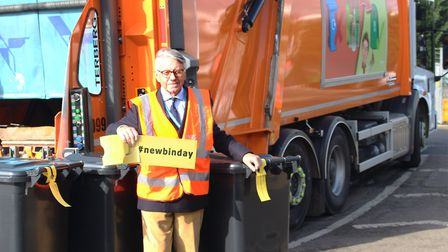 Peter Stevens, cabinet member for operations at West Suffolk Council which is to introduce new bin c