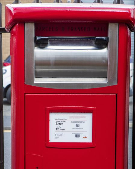 One of the new Royal Mail parcel postboxes which are being introduced across the country, including