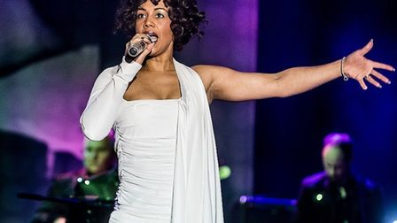 Elesha Paul Moses as Whitney Houston. The critically acclaimed tribute show is coming to Bury St Edm