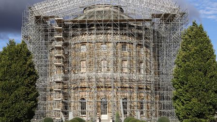 The completed scaffolding at Ickworth Picture: NATIONAL TRUST/JEMMA FINCH