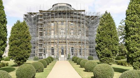 The scaffolding at Ickworth Picture: NATIONAL TRUST/JIM WOOLF