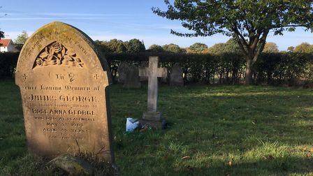 Rose was buried in the village cemetery. The cross marks her resting place. The inscription reads �I