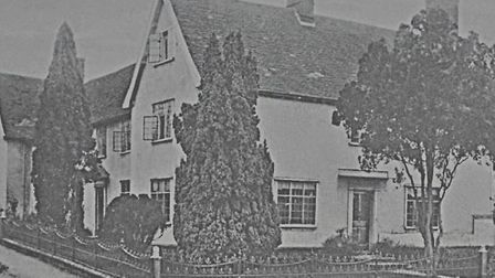 An historic picture of Providence House, Peasenhall, where Rose Harsent had a room on the top floor
