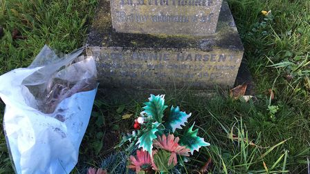 Judging by the flowers, Rose is still remembered in Peasenhall Picture: STEVEN RUSSELL