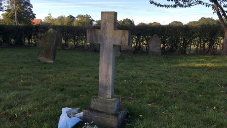 Rose's memorial in the village cemetery. Picture: STEVEN RUSSELL