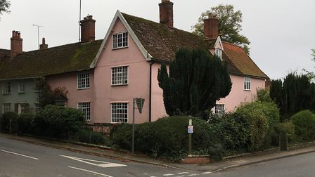 The pink building was Providence House in Peasenhall, where Rose Harsent was a servant and where she