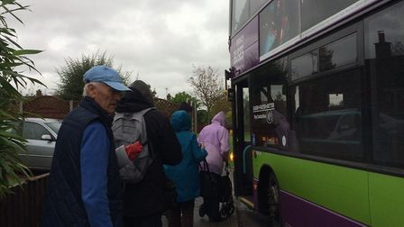 Many residents in the villages do not drive and are limited to catching the bus instead. Picture: KA
