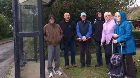 Residents gathered at the bus stop this morning to discuss fears of what might happen to them withou