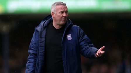 Ipswich Town manager Paul Lambert will lead his side into action at Rochdale this evening. Photo: PA