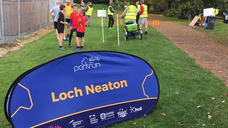 A good sign: the home of Loch Neaton parkrun, Watton. Picture: CARL MARSTON