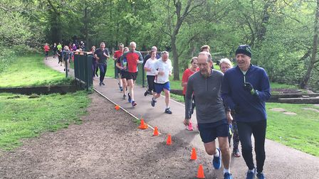 Runners among a bumper field of 593 at the Lincoln parkrun, in Boultham Park. Picture: CARL MARSTON