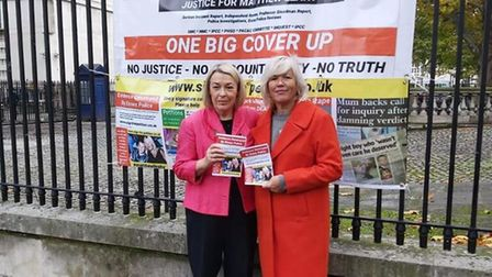 Barbara Keepley MP and Melanie Leahy took the campiagn to London on Monday Picture: MELANIE LEAHY