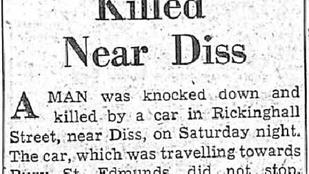 A press cutting from August 18, 1958, reporting the death of Ernest Whistlecraft