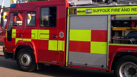The chip pan fire started in Lowestoft and emergency services were called at 11.02am this morning. P