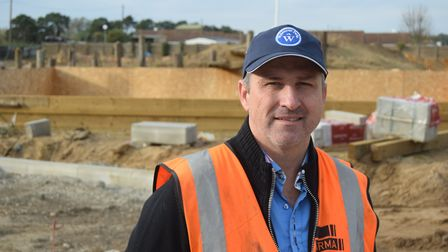 Wyldecrest Parks is building a new site in Rookery Drove, Mildenhall. Pictured is company chairman A