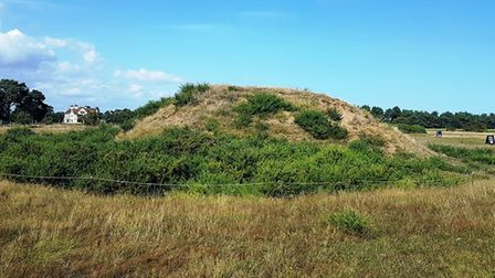The new paths and opening up Sutton Hoo mounds are giving visitors new views of the site. Picture: P