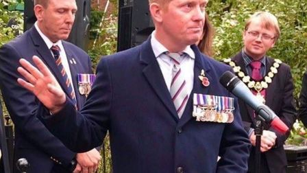 Trevor Coult, who served in the Royal Irish Regiment for 20 years and won the Military Cross for gal