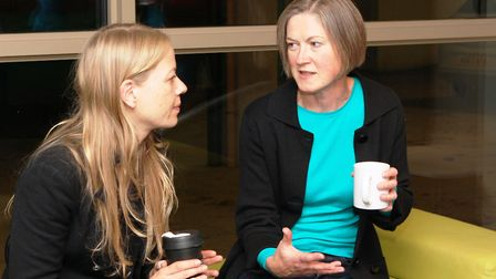 Helen Geake (right) with Green Party co-leader Sian Berry. Ms Geake will not be facing a Liberal Dem